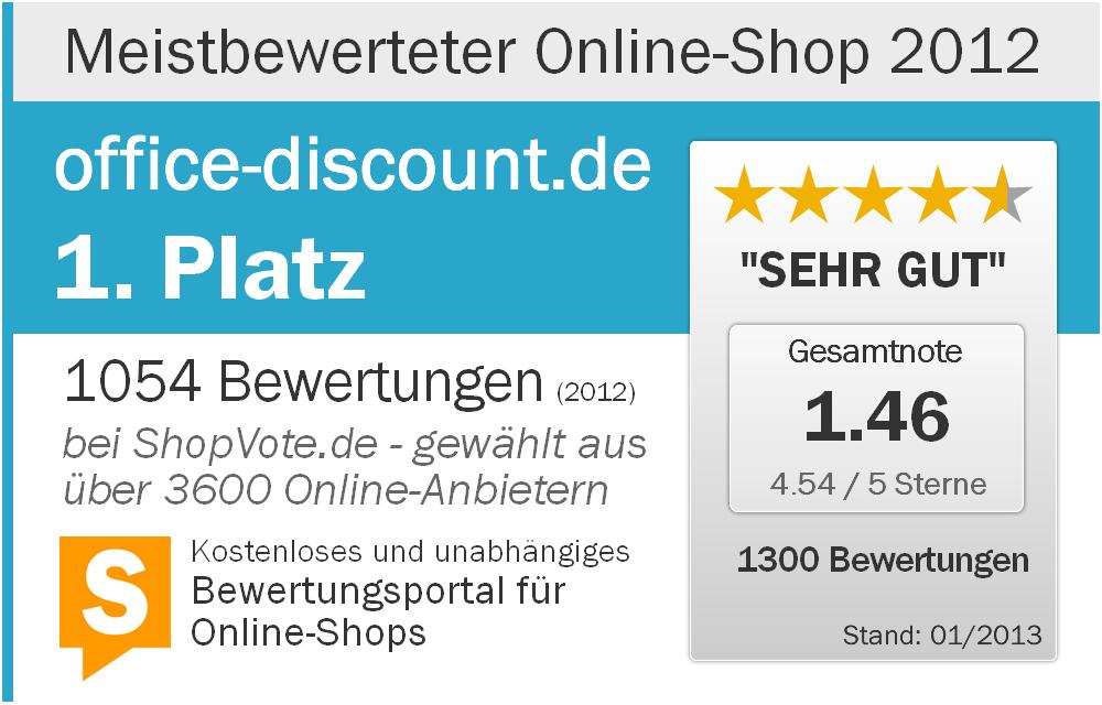 Meistbewerteter Online-Shop 2012 - office-discount.de